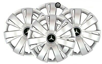 "Set Of 4 Mercedes Sprinter Vito Wheel Trims Wheel Hub Caps 16"" Silver Sjs-411"