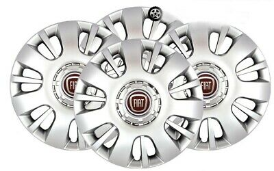 "Set Of 4 Fiat Ducato Scudo Doblo Wheel Trims Wheel Hub Caps 16"" Silver Sjs-407"