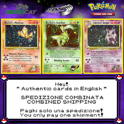 🍀Carte Pokémon RARE SET GYM HEROES lotto Pokemon Spedizione combinata🍀