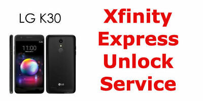 UNLOCK CODE for Xfinity LG K30 X410UM Smart Cell Phone  ** 1 DAY SERVICE **