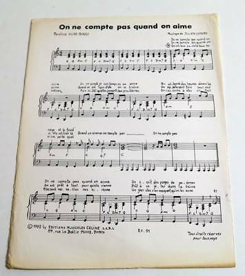 Partition sheet music HERBERT LEONARD : On ne Compte Pas Quand on Aime * 80's