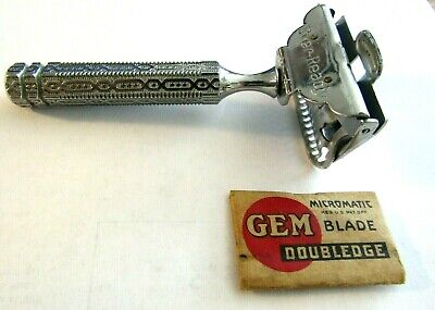 1912 Patent Every-Ready Safety Razor Extra Nice Ornate With Gem Blade In Wrap