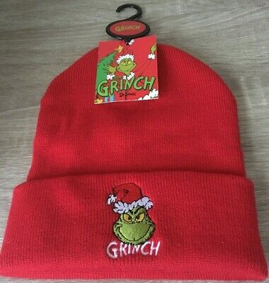 cb31c7b9861bb NEW THE GRINCH Beanie Hat Dr Seuss Mens Womens Official Primark Xmas ...