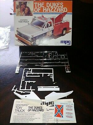 Vintage 1980 Dukes Of Hazzard Cooters Tow Truck Box, Tow Boom Parts & Decals