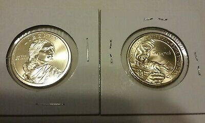 2017 Native American Sacagawea Sequoyah Cherokee P&D Dollars - Uncirculated