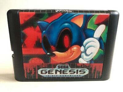Phantom Sonic, Sega Genesis, Fan horror Hack of Sonic The Hedgehog, USA Seller