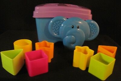 Fisher Price Elephant Shape Sorter with Blocks