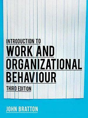 Introduction To Work et Organisationnels Comportement par Bratton, John,