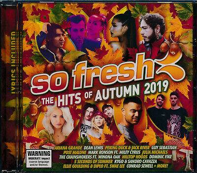 So Fresh The Hits Of Autumn 2019 CD NEW Ariana Grande Hilltop Hoods
