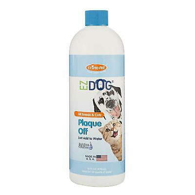 Ezdog Plaque Off Fresh Breath All-Natural Drinking Water Additive For Dogs And C