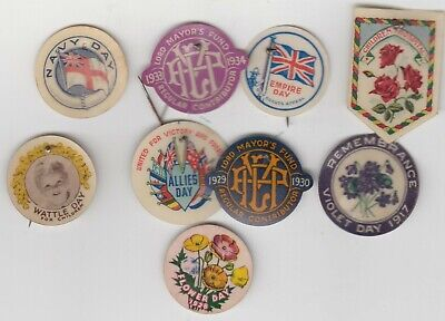 Eight Celluloid Fund Raisers> Some Wartime , Dated 1917, 28,29.34.
