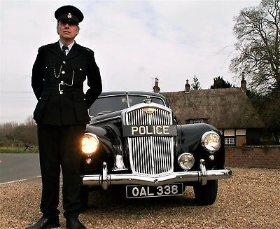 Classic WEDDING car hire Vintage POLICE Wolseley PROM limo.GIFT EXPERIENCE panda