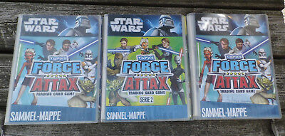 Star Wars - Topps Force Attax, Trading Card Game - 3x Sammel-Mappe