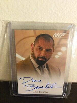 Dave Bautista wwe autograph as Mr Hinx Spectre 007 Auto