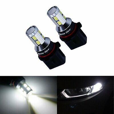 Pair 9 SMD P13W White LED Daytime Running Light Bulbs DRL Fit Ford Mustang Audi
