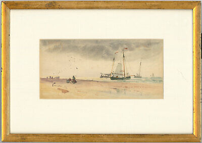 Set of Two Early 20th Century Framed Watercolours - Seascape Scenes