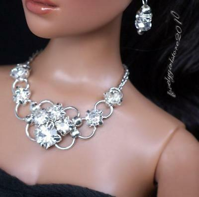 "Rhinestone Necklace and Earring Jewelry Set for 16/"" Tonner Tyler 061B"
