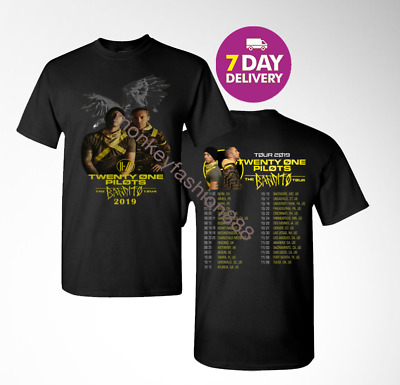 New Twenty One Pilots 21 Pilots The Bandito Tour GILDAN 2019 Dates T-Shirt