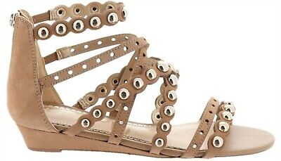 9bc55a394a1d Sam Edelman Dustee Suede Demi-Wedge Gladiator Sandal CARAMEL 6 NEW 614-202
