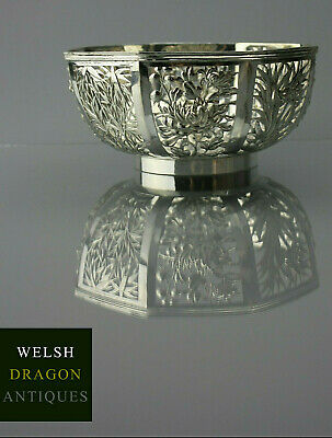 MUSEUM HIGH QUALITY 19TH FINE CHINESE EXPORT SOLID SILVER BOWL, WANG HING c1880