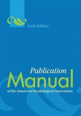 Publication: Maunal of the American psychology association 6th 978-1-4338-0561-5