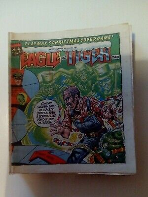Eagle And Tiger Comics 50 Issues 1985-88. Free Gift And Christmas Issues.