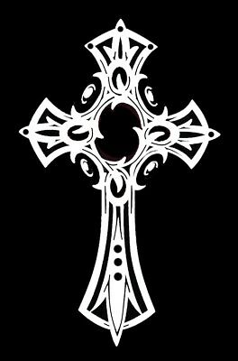 high detail airbrush stencil  cross six FREE UK POSTAGE