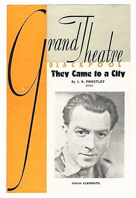 Grand Theatre Blackpool Feb 1943 'They Came To A City' Mabel Terry-Lewis Withers