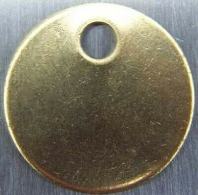 "Round Blank Brass ID tags Pets Keys Tools Valves ,1-1/2"" Made in USA"