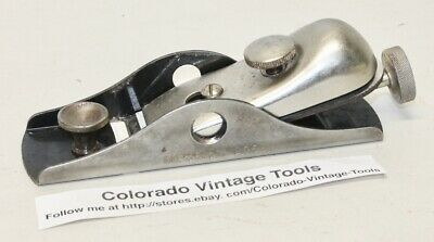 "6 1/4"" MILLERS FALLS No.206B All Steel Low Angle Back Plane / 12 Degrees"
