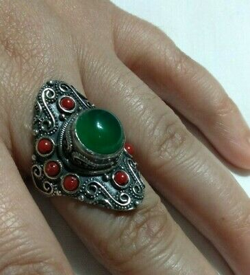 Extremely Ancient Antique Rare Vintage Ring Viking Old Silver Artifact Quality