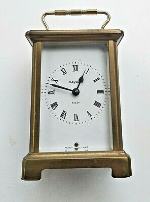 Vintage Antique Made in France DUVERDREY & BLOQUEL Bayard Carriage Clock Working