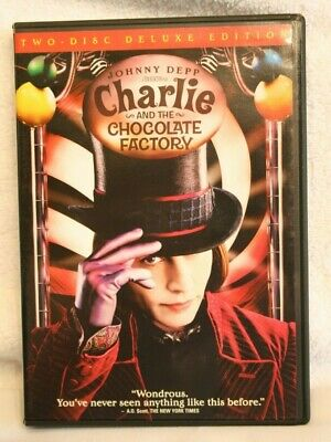 Charlie and the Chocolate Factory DVD Movie 2 Disc Deluxe Edition Johnny Deep