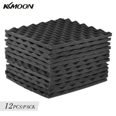 12 Pack Acoustic Wedge Studio Foam Soundproofing Wall Panels 30 * 30cm/ 12 *12in
