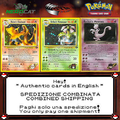 🍀Carte Pokémon RARE SET GYM CHALLENGE lotto Pokemon Spedizione combinata🍀