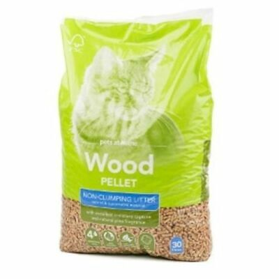 30 Litres Wood Pellet Responsibly Sourced Cat Litter Premium Pinewood Based