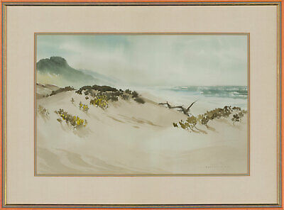 Rowena Bush (1917-1998) - Signed and Framed 1987 Watercolour, Dunes Driftwood
