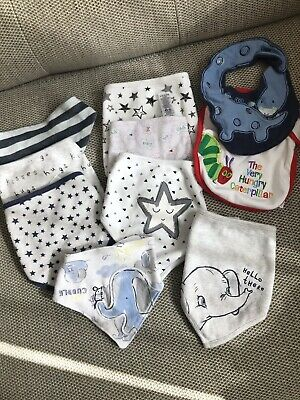 Baby Boys Huge Bundle Of Dribble Drool Bandana Bibs Bib 0-3-6-9-12-18 Months