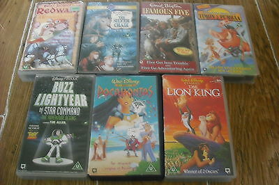 7 Videos Disney, Famous 5 Enid Blyton, Redwall, The Silver Chair C S Lewis