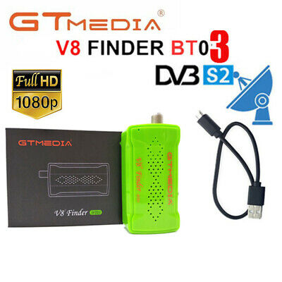 GTMEDIA V8 Finder DVB-S2 Digital Satellite Finder BT03 HD 1080P SatFinder BT FTA