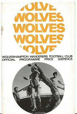 Football Programme>WOLVES v CHELSEA May 1968