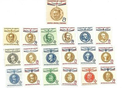 Complete Set Of 19 Champions Of Liberty In Mnh Condition