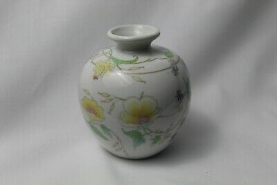 VINTAGE PORCELAIN BUD VASE THE TOSCANY COLLECTION TAIWAN Yellow Floral Used