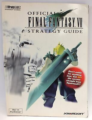 FINAL FANTASY VII OFFICIAL STRATEGY GUIDE First Edition PS1 1997 - S60