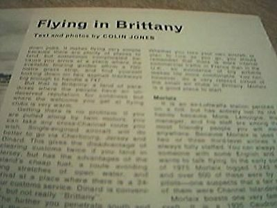 magazine cutting 1976 flying brittany colins jones 2 page