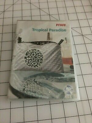 Pfaff Embroidery Designs multi-format CD - Tropical Paradise #376