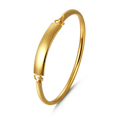 Fashion Stainless Steel 18K Gold Plated Women Bangle Bracelets Charm Jewelry