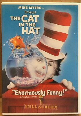 Dr. Seuss' The Cat In The Hat DVD with Mike Myers 2004 Full screen