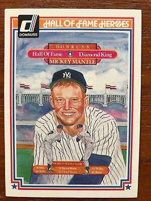 1983 Donruss Hall Of Fame Heroes #43 Mickey Mantle New York Yankees NM/MT-MT
