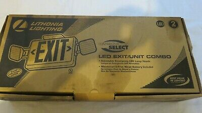Exit UnitCombo Sign,LED, Lithonia Contractor Select,